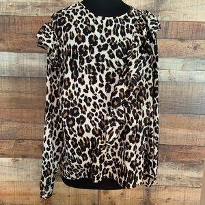 Lane Bryant leopard print top, size 22